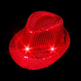 Led feest hoedjes rood